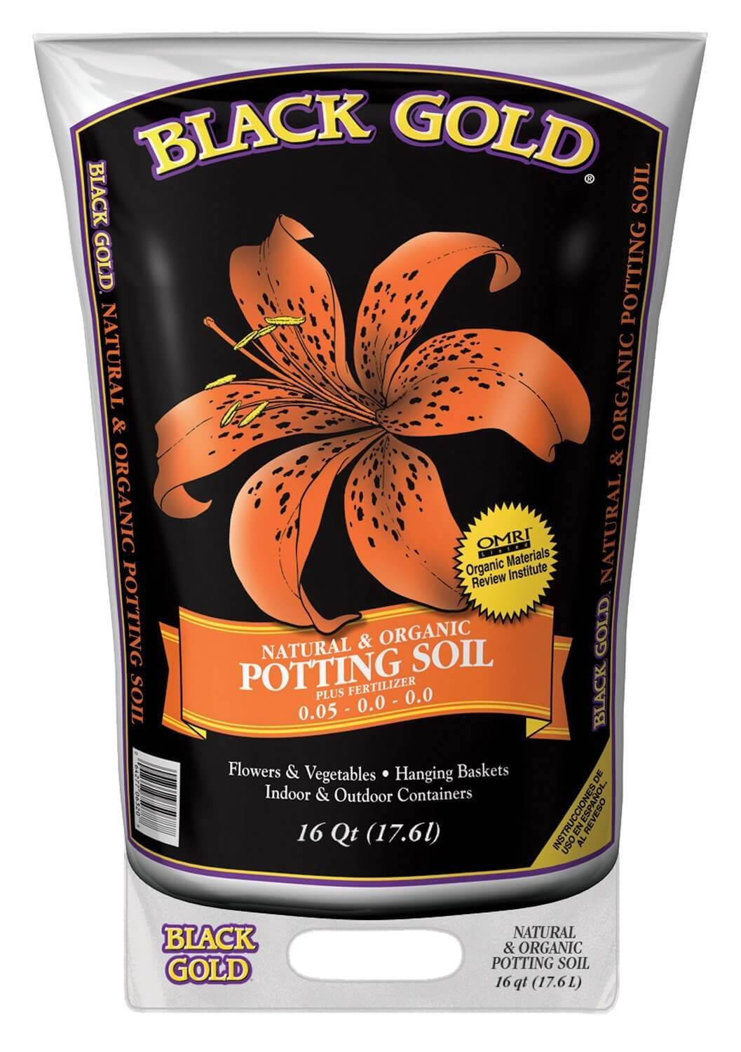 Black Gold 1302040 16-Quart All Organic Potting Soil
