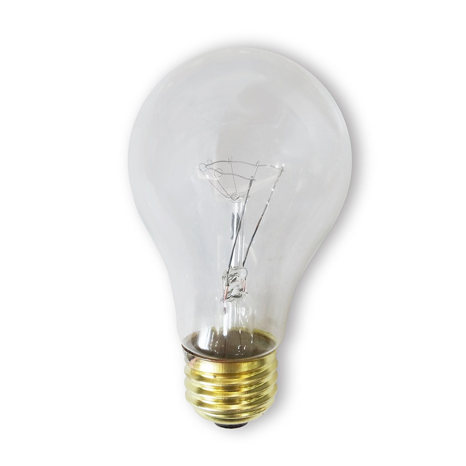 Bulbrite 60ACLRS-2PK 60 Watt Incandescent A19 Rough Service Bulb Clear 2 Pack