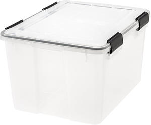IRIS 46 Quart WEATHERTIGHT Storage Box Clear