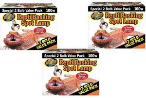 Zoo Med Basking Spot Lamps 100 Watt - 6 Total Bulbs