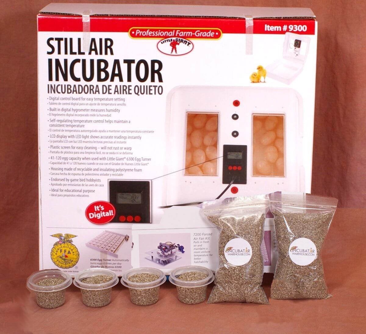 Little Giant 9300 Still Air Egg Incubator Kit for Reptiles
